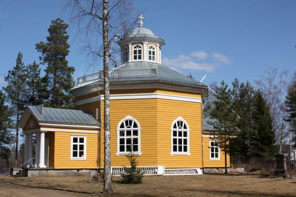 Orisbergin Kartanon Kappeli, Kartanonkeltainen ja Okrankeltainen 4 Öljyn Laatumaali, sekoitettu 1:1.