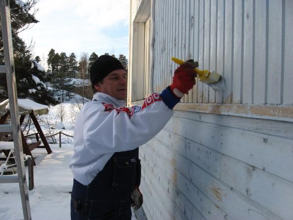Talvimaalausta Raisiossa tammikuussa 2009.