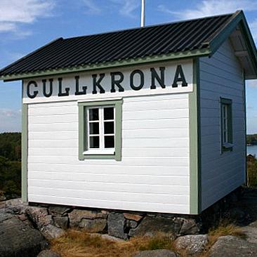 Gullkronan luotsituvan museorakennus, Saaristomeri. Sävytetty 4 Öljy Laatumaali.