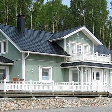 Talo metsän laidalla, sävytetty 4 Öljyn Maali