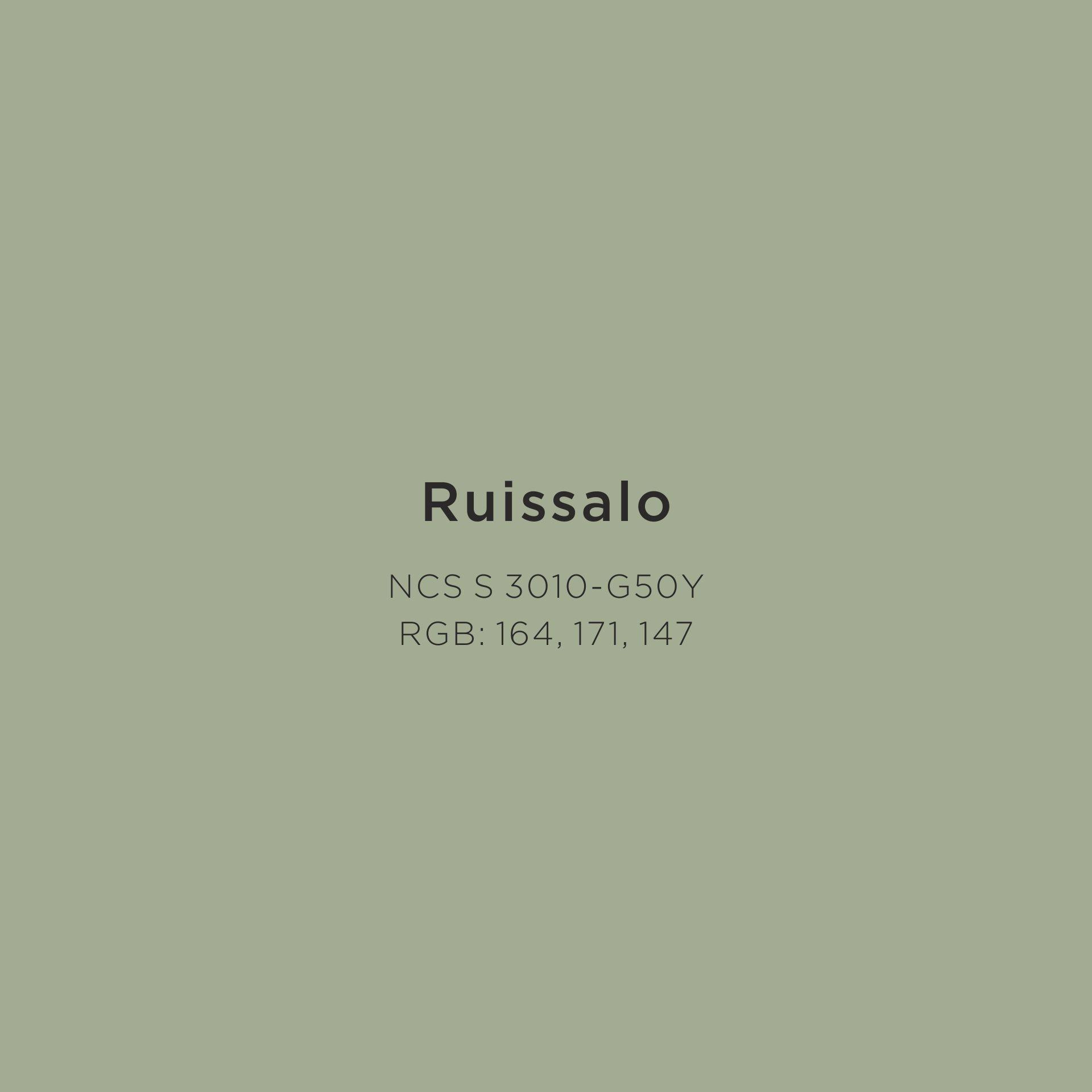 Virtasen värikartan sävy Ruissalo