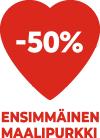 LuKo 50% Sydän punainen